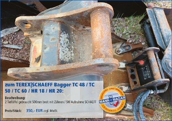 Terex-Schaeff TC 48 / TC 50 / TC 60 / HR 18 / HR 20: