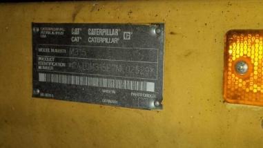 Escavatore gommato - Caterpillar M 315