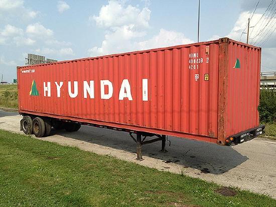 Dry Van 40' HC DV Lagercontainer