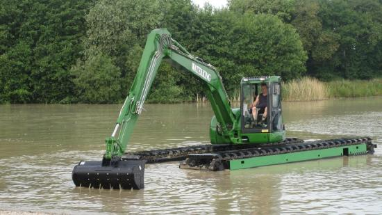 Waterking amphibien bagger