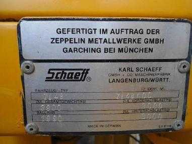 Kolový nakladač - Zeppelin ZL 4B Radlader wheelloader erst 4600h 3,8to. Pal