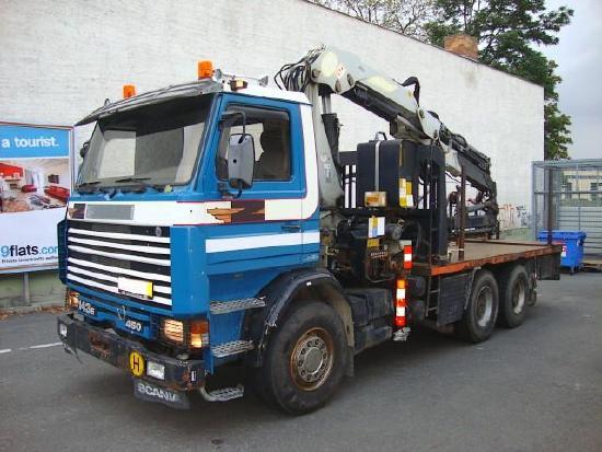 Scania R 143 EL 6x4L450/38Z Dachdeckerkran Autokran 27m