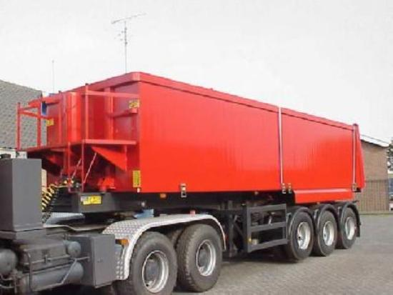 3 axle tiptrailer with 32m3 aluminium body