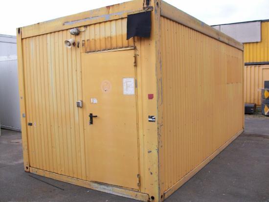 BILFINGER 20' Bürocontainer - Wohncontainer 3 m breit mit WC und Kleinküche [9412002462]