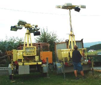 Słup oświetleniowy - Polyma Lichtgiraffe / Flutlichtanlage
