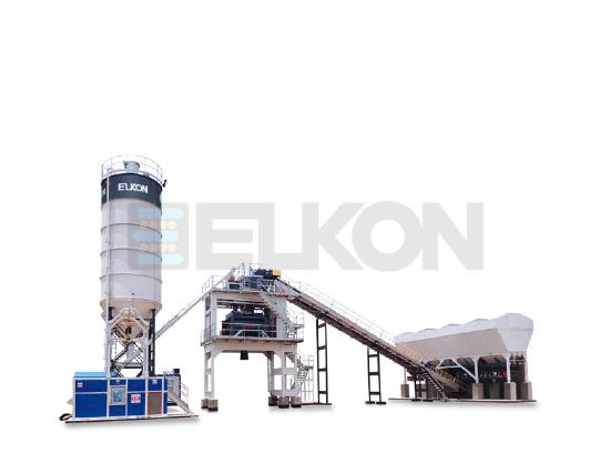 Elkon Elkomix-120 Stationary Concrete Batching Plant