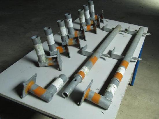 Layher Rohbau Treppenschutzgeländer Schutzgerüst
