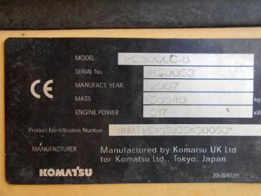 Koparka łańcuchowa - Komatsu PC600 LC8