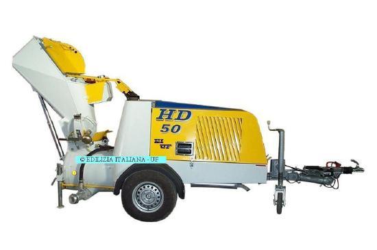 EDILIZIA ITALIANA-UF Diesel ScreedPump / Trasportatrice Di Massetti / ZandCement Pomp - HD50