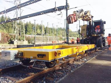 Rail construction machinery - Other 3688RR Gleisbau Anhänger 20T