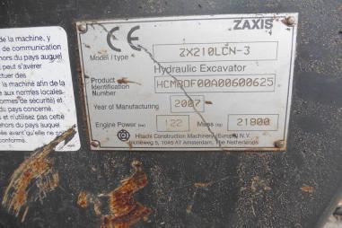 Excavadora de cadenas - Hitachi ZX210