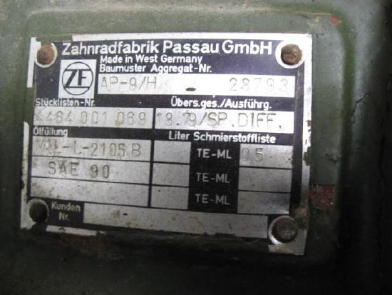 ZF Typ AP-9/H neu