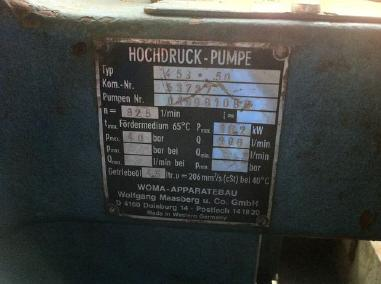 Otro - Woma Containerized dual Woma high pressure water pumps 453.50