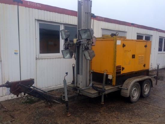 Sdmo SDMO DS27 Generator mit 27KVA u. Lichtmast Lighttower Giraffe Stromerzeuger