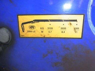 Korba valníku s jeřábem - Mercedes Benz Actros Megasp.2546 Kuplung