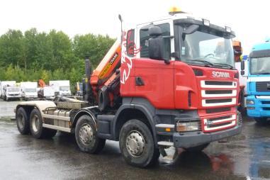 Korba valníku s jeřábem - Scania R 440 8X4