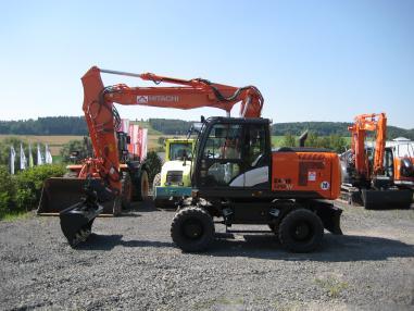 Mobile excavator - Hitachi ZX170W-5 OilQuick 70/55