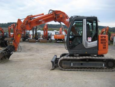 Kettenbagger - Hitachi ZX85US-3 Offset