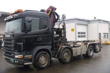 Korba valníku s jeřábem - Scania R164GB 8X2*6 580