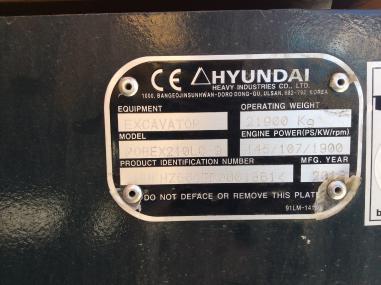Koparka łańcuchowa - Hyundai 210 NLC-9