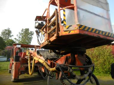 Machine de construction de tunnels - Normet Spraymec 9150 WPC