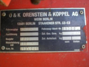 Pelle sur chenilles - O&K RH6-22