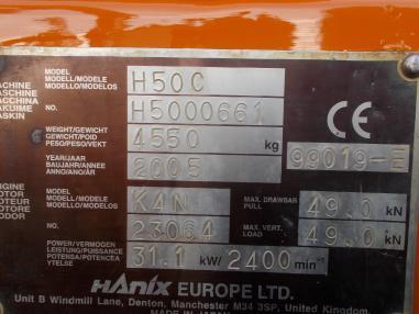 Minikoparka - Hanix 50C,2005,2998Bst,3loffel