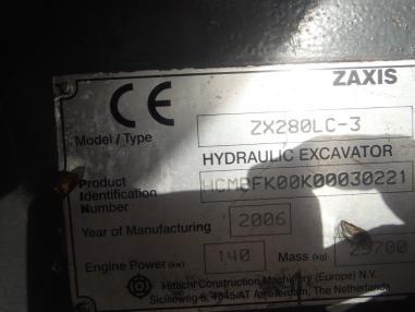 Koparka łańcuchowa - Hitachi ZX280LC-3