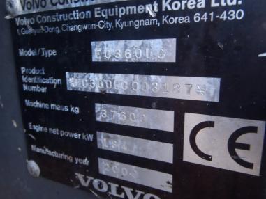 Zincirli ekskavatör - Volvo EC360