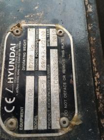 Pelle sur chenilles - Hyundai robex 80CR