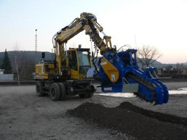 Fossoyeuse rotative - Grabenmeister GM 140 AFH-600 Vorführmaschine