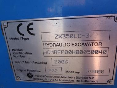Koparka łańcuchowa - Hitachi ZX350 LC-3
