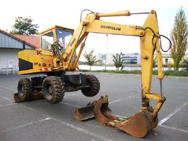 Excavator mobil - Zeppelin Z 206 M Mobilbagger excavator 5t Hammerhyd 5500h