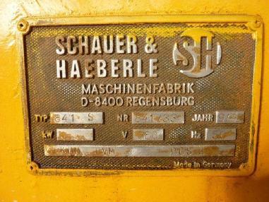 磨光机 - Schauer & Haeberle Betonschleifmaschine 841S