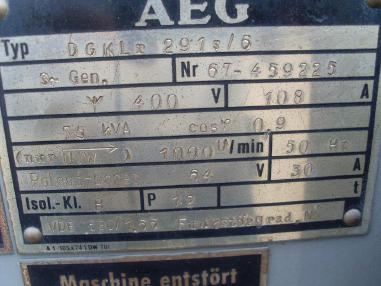 Power system - Deutz DEUTZ  A 12 L 714 - 75 KvA