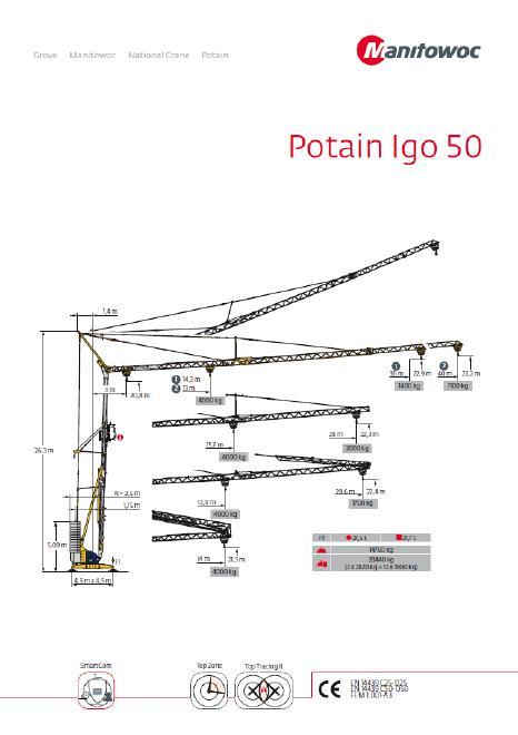 Potain Kran IGO 50, fabrikneu