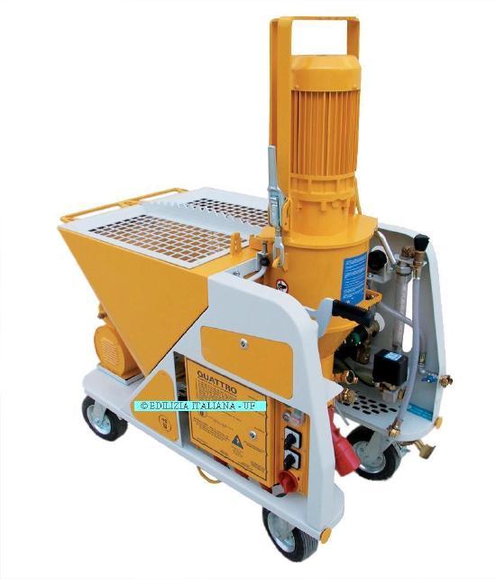 EDILIZIA ITALIANA-UF Plastering Machine / Intonacatrice / Gips Spuitmachien - QUATTRO 220/400V or 400V