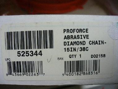 Akcesoria - ICS ICS ProForce Abrasive Diamantkette 38 cm für hydraulische Kettensäge