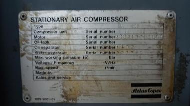 Разное - Atlas Copco GA 408
