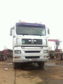 Transporter do drewna - MAN TGA