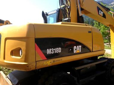 Mobile excavator - Caterpillar M318D