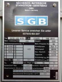 transformator - SGBB DOTN 400 H/10