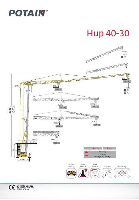 Potain Kran Hup 40-30, fabrikneu