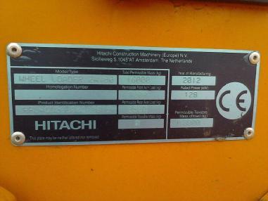 Pala gommata - Hitachi ZW 180