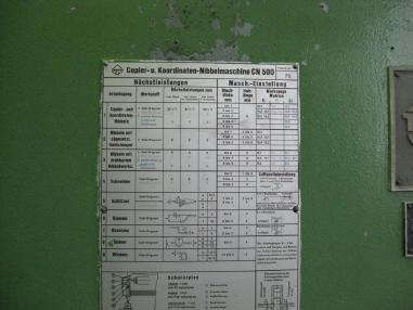 Peltityöstökone - Muut Kopier- und Koordinaten Nibbelmaschine TRUMPF CN500