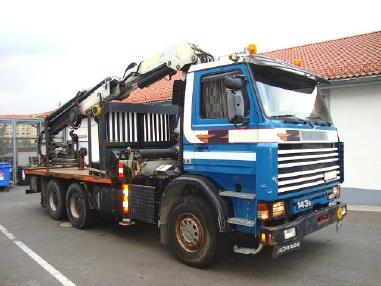 autodizalica - Scania R 143 EL 6x4L450/38Z Dachdeckerkran Autokran 27m