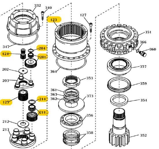 O&K Teile Schwenkgetriebe 2400890