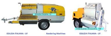 Alta - EDILIZIA ITALIANA-UF Rendering Machine / Pompa Intonacatrice / Egaline Spuitpomp - V2