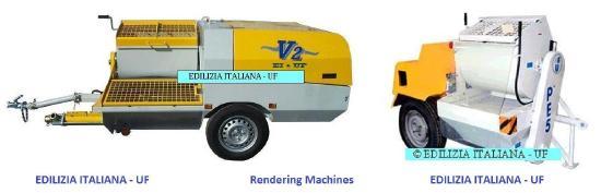 EDILIZIA ITALIANA-UF Rendering Machine / Pompa Intonacatrice / Egaline Spuitpomp - V2