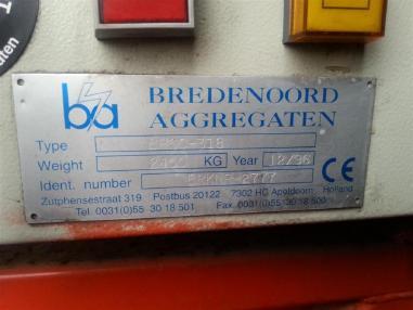 Agregat prądotwórczy - Pozostałe BREDENOORD (BRSC - 318) 400 kVA